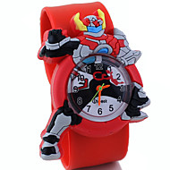 Children's Cute Cartoon Silicone Armor Hero  Pattern Lovely Quartz Slap Watch Cool Watches Unique Watches