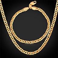 Schmuckset vergoldet Aleación Gold Halsketten Armband Für Hochzeit Party Alltag Normal Sport 1 Set Hochzeitsgeschenke