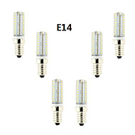 6pcs Dimmable E14/G4/G9 4W 360LM Warm White/Cool White Light LED Corn Bulb(AC200-240V)