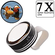 universale 7x clip-on lente della fotocamera teleobiettivo per il telefono mobile iphone 4 4s 5 5s 6 più samsung htc Nokia xiaomi