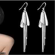 Damen Tropfen-Ohrringe Europäisch Modeschmuck Sterling Silber versilbert Schmuck Für