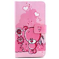Mert Samsung Galaxy Note Pénztárca / Kártyatartó / Állvánnyal / Flip Case Teljes védelem Case Rajzfilmfigura Műbőr Samsung Note 4