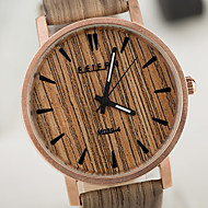 unisex relógios de estilo europeu relógio de madeira do vintage homens e mulheres de casos à prova d'água assistir