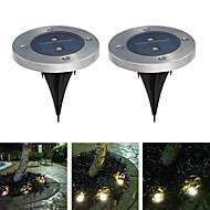 confezione da 2 luce al suolo solare per il giardino paesaggio illuminazione percorso scala