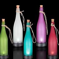 confezione da 5 lampada bottiglia principale solare decorazione interspersion luce luce del pendente multicolore