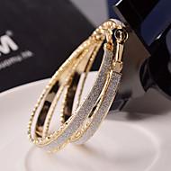 Σκουλαρίκι Κρίκοι Κοσμήματα 2pcs Γάμου / Πάρτι / Καθημερινά / Causal Κράμα Γυναικεία Χρυσαφί / Ασημί