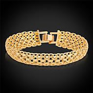 Herrn Damen Paar Ketten- & Glieder-Armbänder Vintage Armbänder Platiert vergoldet Aleación Gold Silber Schmuck FürHochzeit Party Alltag