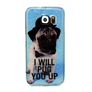 Dog Pattern Glitter TPU Material Soft Phone Case for Samsung S Series