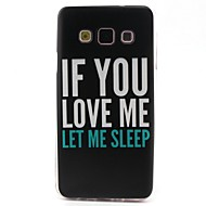 Letter Pattern TPU Material Phone Case for Samsung  Galaxy A3 A5