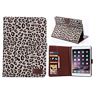 Leopard Style PU Leather Card Slots & Wallet with Holder for iPad mini 2/3 (Assorted Colors)