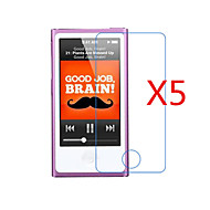 (5 stuks) high definition screen protector flim voor de iPod nano 7
