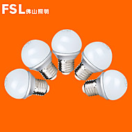 5 pcs FSL E26/E27 3 W 9 SMD 2835 220 LM Warm White/Cool White G45 Globe Bulbs AC 220-240 V