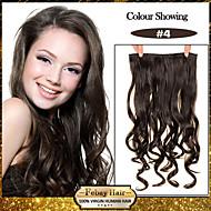 5 Clips wellig mittelbraun (# 4) Kunsthaar Clip in Haarverlängerungen für Damen mehr Farben zur Verfügung