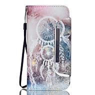 EFORCASE White Campanula Split Lanyard Painted PU Phone Case for Galaxy S6 edge S6 S5 S4 S3 S5 mini S4 mini