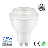 2pcs Vanlite GU10 7.5W COB LED Spot Lamp 500lm 75watt Replacement Warm White,Natural White AC220-240V