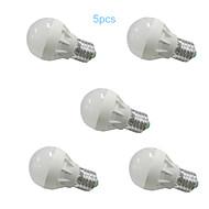 Ampoules Globe LED Blanc Chaud / Blanc Froid MORSEN 5 pièces G45 E26/E27 3W 6 SMD 5630 250 LM AC 100-240 / AC 110-130 V