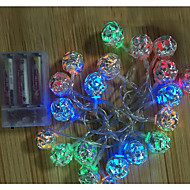 20-LED 2M Ball Shaped Pendant  Lamp String 2A Battery Christmas Holiday Wedding Decoration