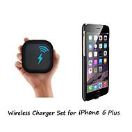 [IPhone 6 plus trådlösa laddare set] qi trådlösa laddare och 2mm supertunn trådlös mottagare fallet för iphone 6 plus