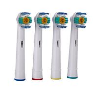 4stk et sæt udskiftning elektrisk tandbørstehoveder bløde børstehår eb-18a til oral b