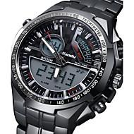 Masculino Relógio Militar Digital / Quartzo Japonês Calendário / alarme / Noctilucente Aço Inoxidável Banda Pendente Preta marca
