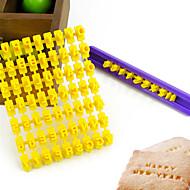 μούχλα αλφάβητο γράμμα αριθμό μπισκότο κόπτη μπισκότων τύπου κέικ σφραγίδα ανάγλυφης εκτύπωσης (26 γράμματα και αριθμοί)