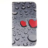 Mert Samsung Galaxy tok Kártyatartó / Pénztárca / Állvánnyal / Flip Case Teljes védelem Case Szív Műbőr Samsung J5