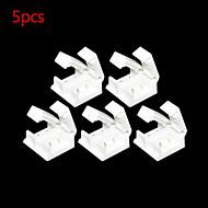 5 pcs 2 broches connecteur sans soudure pour 10mm 5050 couleur unique imperméables bande LED