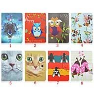 7インチユニバーサルタブレット用スタンドケースと動物パターン高品質PUレザー