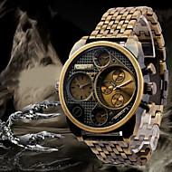 Oulm Herren Militäruhr Armbanduhr Quartz Japanischer Quartz Duale Zeitzonen Edelstahl Band Luxuriös Schwarz Bronze RotgoldSchwarz Bronze