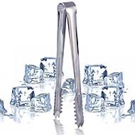 5pcs rustfrit stål is tænger bar værktøj barbecue klip brød mad is klemme