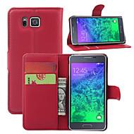 Για Samsung Galaxy Θήκη Θήκη καρτών / Πορτοφόλι / με βάση στήριξης / Ανοιγόμενη tok Πλήρης κάλυψη tok Μονόχρωμη Συνθετικό δέρμα Samsung