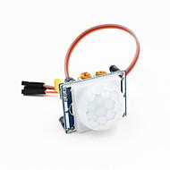 piroelem infravörös PIR mozgásérzékelő érzékelő modul w / 3-tűs kábel Arduino - kék + fehér