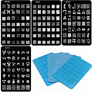 Moldes de Unhas Acrílicas 3D - Desenho Animado/Flôr/Abstracto/Adorável/Punk/Casamento - de Metal - para Dedo/Outro - 14.5x9.5x0.5 -4PCS(4