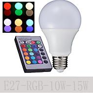 1 개 딩 야오 E27 10 / 15w 6000K 높은 전원 원격 제어 글로브 전구 교류 85-265V 500-650lm RGB 주도