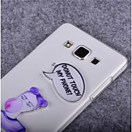 Voor Samsung Galaxy hoesje Transparant hoesje Achterkantje hoesje Woord / tekst PC SamsungYoung 2 / Trend Lite / Trend Duos / J7 / J5 /