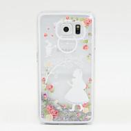 Voor Samsung Galaxy hoesje Stromende vloeistof hoesje Achterkantje hoesje Glitterglans PC Samsung S6 / S5 / S4