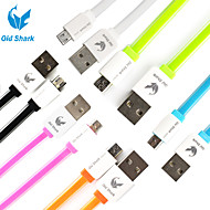 Old Shark™ 3 Feet Noodle Flat Micro USB Data Charging Cable with ABS Shell for Samsung S6 and others
