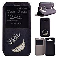 Na Samsung Galaxy Etui Z podpórką / Z okienkiem Kılıf Futerał Kılıf Czarno-biały Skóra PU Samsung J7 / J5