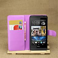 Pour Coque HTC Portefeuille / Porte Carte / Avec Support / Clapet Coque Coque Intégrale Coque Couleur Pleine Dur Cuir PU HTC