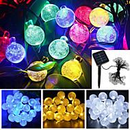 4.8m 20-led bolla di energia solare della stringa impermeabile giardino luce decorazione di Natale del partito