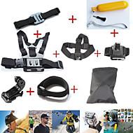 Zestaw akcesoriów 10w1 GOPRO bohaterem 4 klatki piersiowej + słuchawki + pasek na nadgarstek + pływających bobber monopod zawodowcem hero3