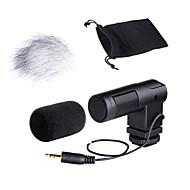 boya áudio estéreo x / y microfone condensador by-v01 para 3.5mm entradas mini câmeras DSLR