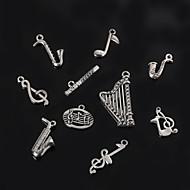 beadia instrumento musical de metal& notas musicales colgantes del encanto de plata antiguo plateado accesorios de bricolaje joyas