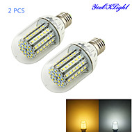 YouOKLight® 2PCS E27 7W 700lm CRI>80 3000K/6000K 90*SMD3528 LED Light Corn Bulb (DC8-16V)