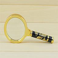 70 millimetri di confine drago dorato manico grande lente d'ingrandimento speciale multiplo d'ingrandimento giornale vetro anziani