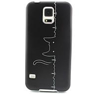 Mert Samsung Galaxy tok Minta Case Hátlap Case Cica TPU Samsung S5 Mini / S4 Mini / S3 Mini