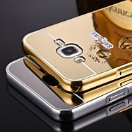 bling fém alumínium keret tükör akril műanyag hátlap tok Samsung Galaxy j5 / J7 / E7 / i9060 / G530 / g7106