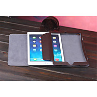 Solid color Stylish Genuine Leather Flip Cover Wallet Card Slot Case with Stand for iPad Air/iPad Air 2