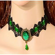 Žene Choker oglice Dragi kamen Legura Moda Zelen Navy Plava Jewelry Special Occasion Rođendan
