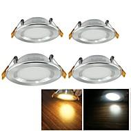 5W Lâmpada de Embutir 25 SMD 2835 500 lm Branco Quente / Branco Frio Decorativa AC 100-240 V 4 pçs